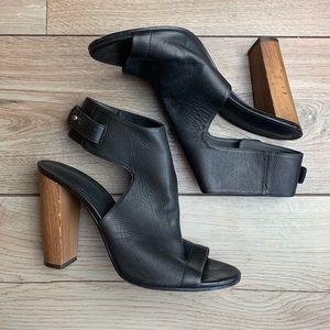 VINCE | Black Leather Heels | Size 10